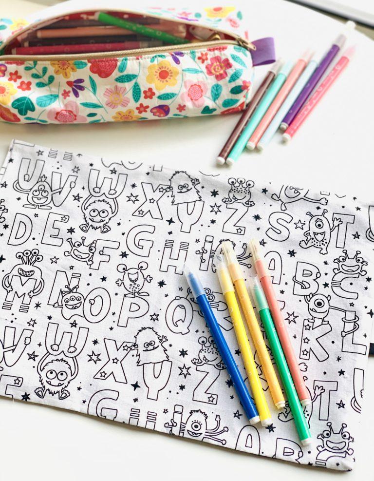 feuille de coloriage lavable alphabet
